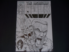 The Incredible Hulk #340 Old Man Logan Cover Recreation By Jamie Biggs, Comic Art