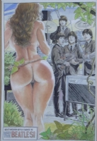 2e. Beatles meet a nude Cavewoman: by Budd Root SOLD Comic Art