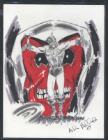 3f. Death of Captain America with Red Skull Comic Art