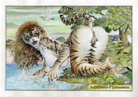 Cavewoman Tigress by Budd Root Comic Art