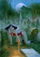 Enric - Vampirella - Homecoming - Prelim Painting Comic Art