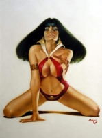 Vampirella - Cover of VAMPIRELLA #52 Recreation Comic Art