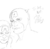 Lee Weeks - Captain America Doodle Comic Art