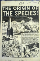 Weird Fantasy #8,  The Origin of the Species  Splash Page Comic Art