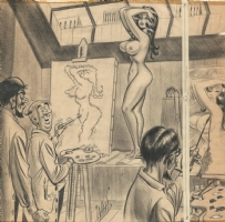 Ward Nude Model Cartoon Comic Art