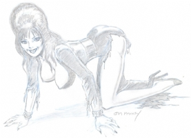 Elvira, Good Doggie, by Mooney Comic Art