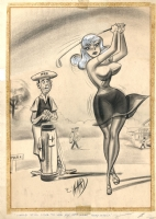 Bill Ward Golfer Cartoon Comic Art