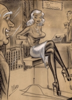 Bill Ward Easy Run Stockings Comic Art