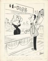 Kissing Booth Gags by Vic Martin and Robert Plunkett, Comic Art