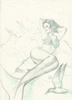 Mermaid by Lorenzo Sperlonga, Comic Art