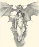 Ray Lago Vampirella and Bat, Comic Art