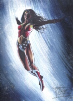 Pascoe Wonder Woman Painting Comic Art