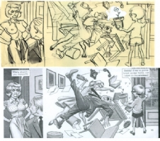 1961 Wallace Wood Prelim for Mad Comic Art