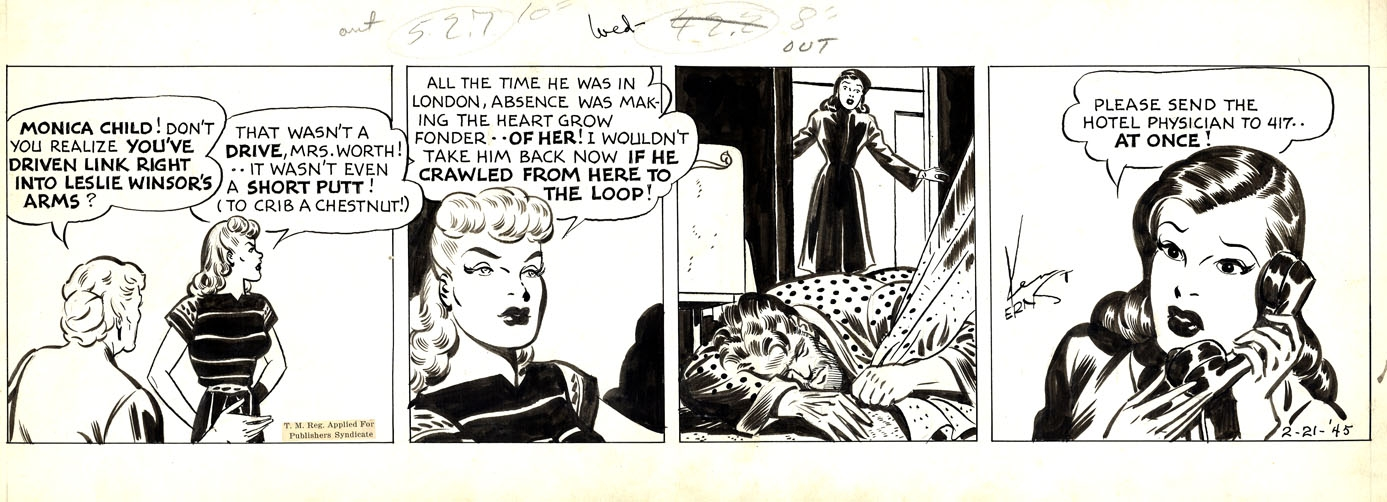 Mary Worth Daily Feb. 21, 1945, in Robert Plunkett's Comic Strips ...