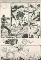 Wonder Woman vs Ninjas Comic Art