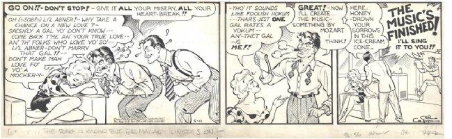 Li'l Abner Daisy Mae Daily 5-11-46 Comic Art
