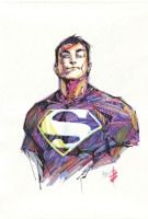 Conner Kent Superboy Pencils by Michael Turner (Rest in Peace, One Year Later) Reimagined by Alex Nino Comic Art