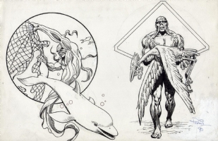 Paris Cullins & Alfredo Alcala - Swamp Thing Environmental Packaging Art Comic Art