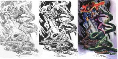 Gene Colan Bob McLeod Tom Smith Dr. Strange and Clea Commission Comic Art