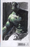 Hulk Avengers sketch cover by Gerald Parel (back cover) Comic Art