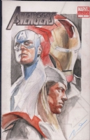 Captain America, Iron Man & Thor Avengers sketch cover by Gerald Parel Comic Art