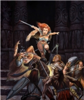 Red Sonja and the barbarians by HArry Roland Comic Art