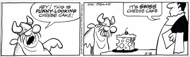 Hagar strip Comic Art