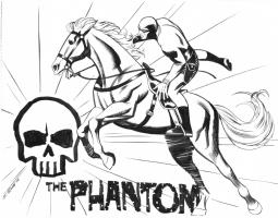 Phantom sketch by Steve Rude Comic Art