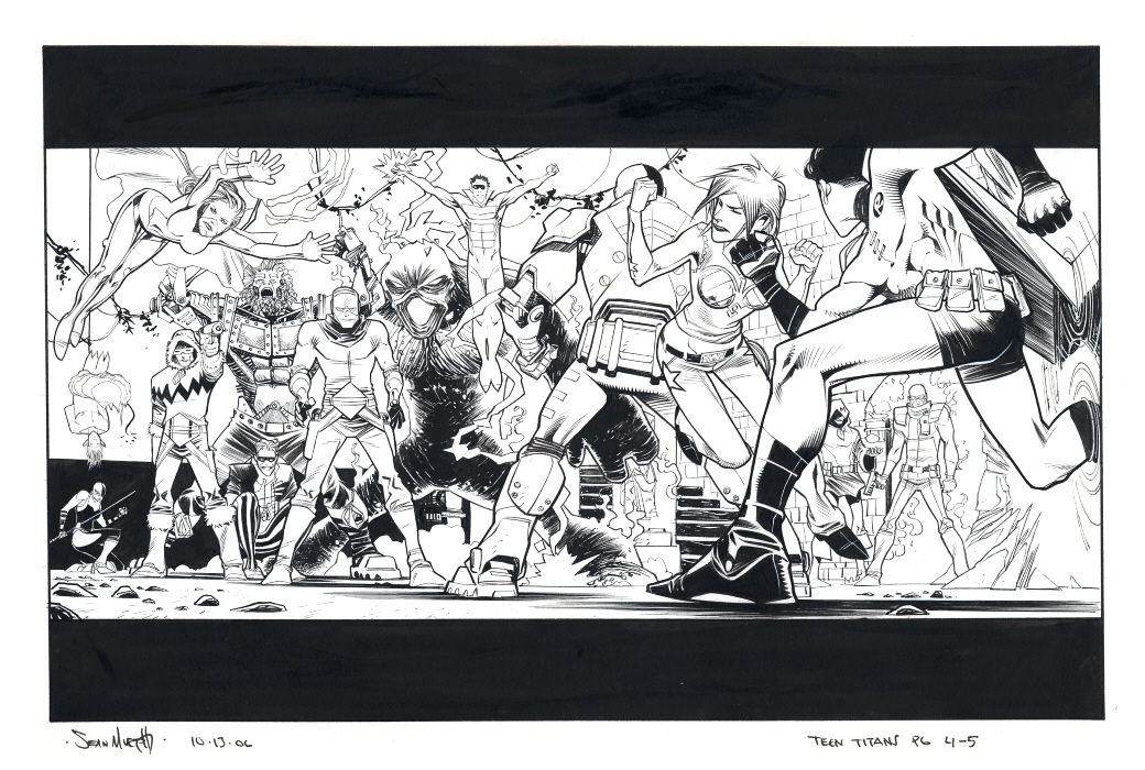 Teen Titans Unpublished Story, Pages 4-5 by Sean Murphy (3 Comments)