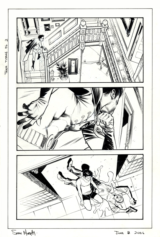 Unused Teen Titans Page 2 Comic Art