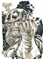 Thanos by Ken Lashley Comic Art