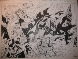 Spawn#1, 4-5 2page splash Comic Art