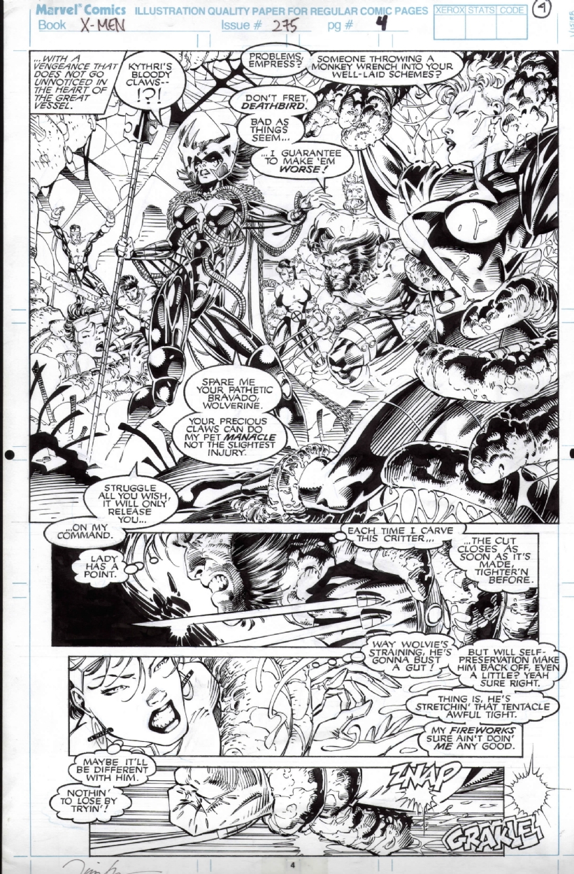 Uncanny X-men 275 page 4 Comic Art