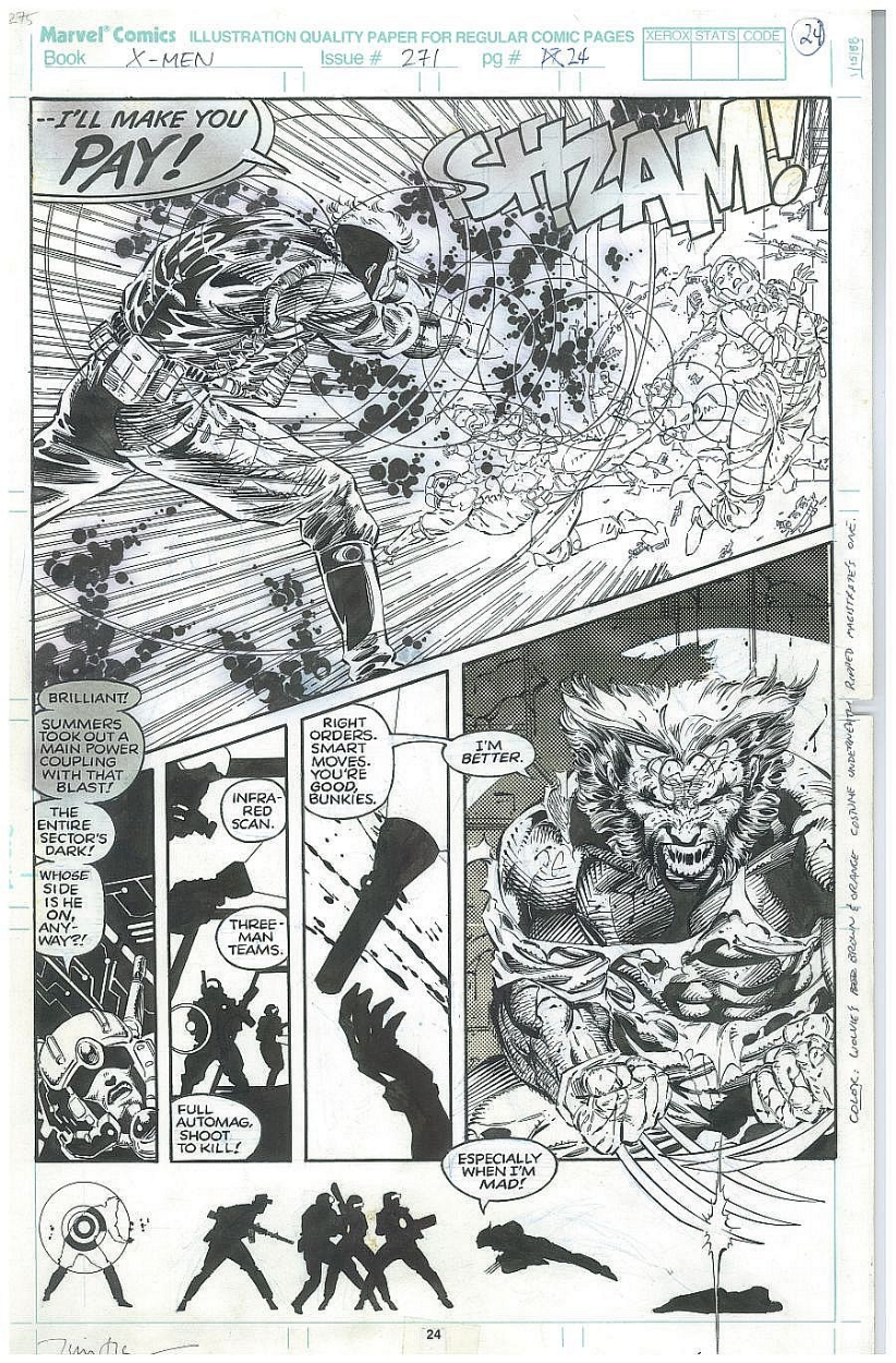 Uncanny X-men 271 page 24 Comic Art