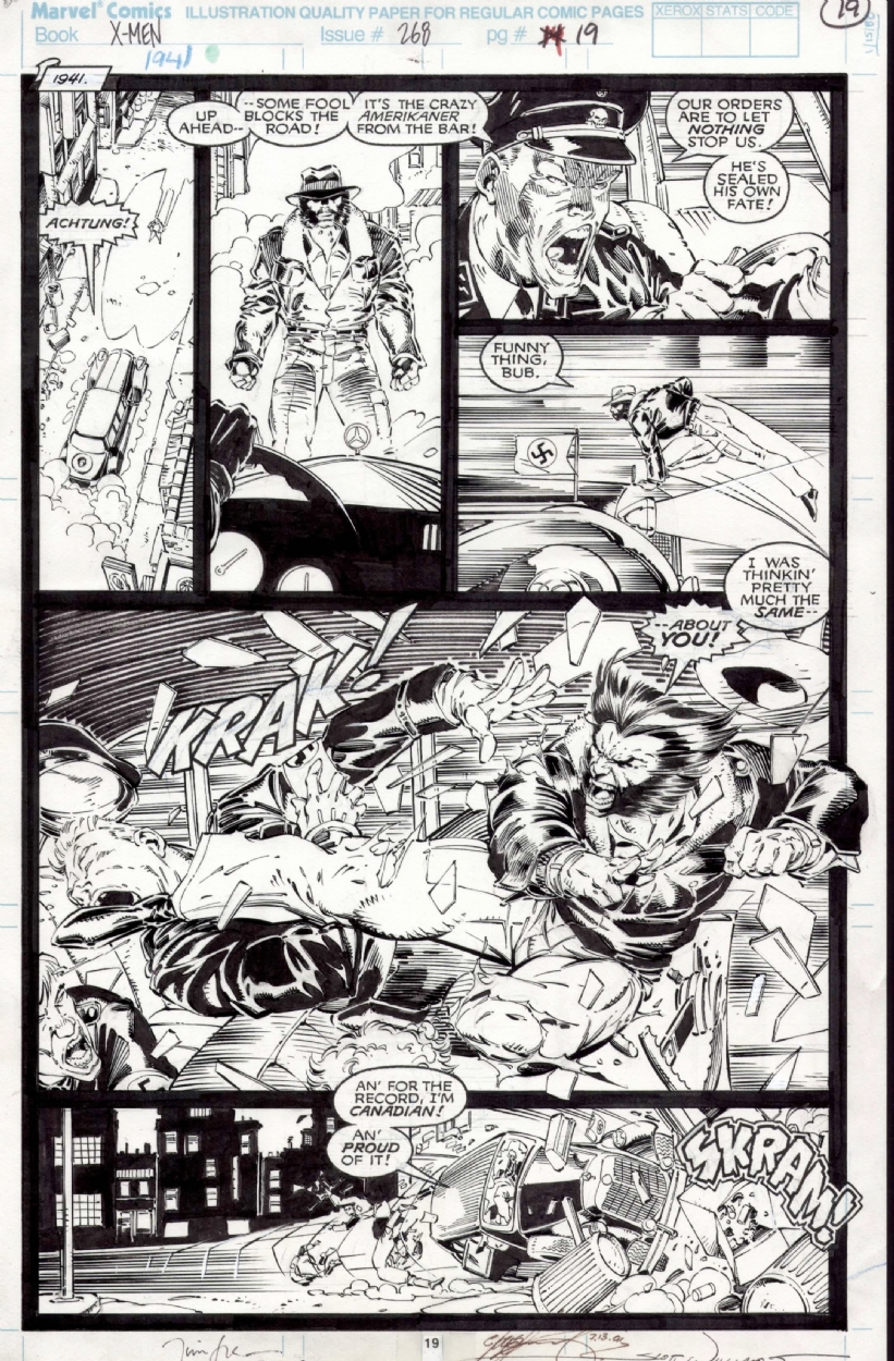 Uncanny X-men 268 page 19 Comic Art