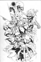 Wizard X-Men pinup by Bart Sears Comic Art