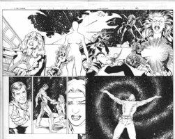 X-Men Forever 3 pages 2 and 3 Comic Art