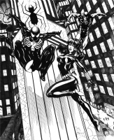 MTU Spidey DD BW, Comic Art