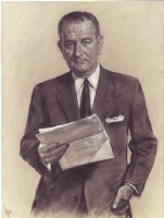 Louis LUPAS - U.S. President Lyndon Baines Johnson, Comic Art