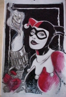~ Harley Quinn ~ smoking gun by Tommy Castillo Comic Art