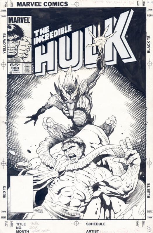 Incredible Hulk Issue 308 Cover Comic Art