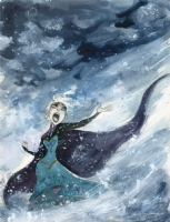 Queen Elsa - Clio Chiang, Comic Art