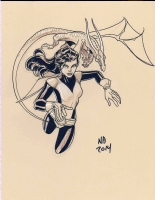 Shadowcat & Lockheed - Nick Bradshaw, Comic Art