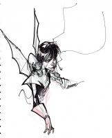 Shadowcat & Lockheed - Francisco Herrera Comic Art