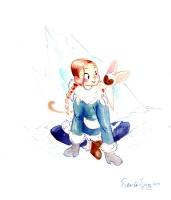 Katara & Momo - Victoria Ying, Comic Art