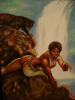 Vixen oil painting Comic Art