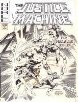 JOHN BYRNE JUSTICE MACHINE #1 COVER (1981) Comic Art