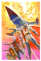 Alex Ross Battle of the Planets #12 Cover Comic Art