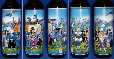 Usagi Yojimbo / Stan Sakai donation etched bottle Comic Art