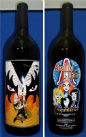 Archie meets KISS 1.5L etched wine bottle Comic Art